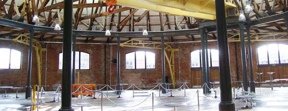 ROUNDHOUSE, DERBY COLLEGE. Inside Rotunda - Empty